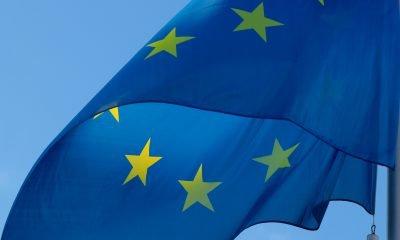 Wehende Europa Fahne