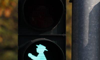 Leuchtendes Grünes Ampelmännchen