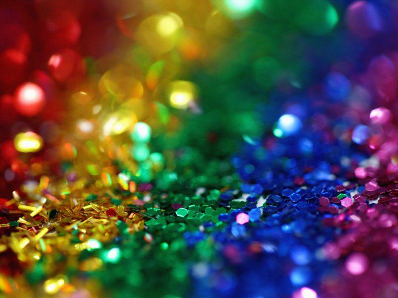regenbogenfarbiges Glitzerkonfetti