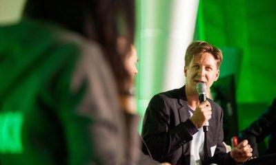 Auf dem Bild ist Daniel Wesener beim Reden zu sehen.