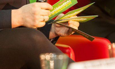 Die Hände von Antje Kapek mit Moderationskarten.
