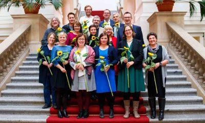 Das Bild zeigt ein Gruppenbild der Fraktionsvorsitzenden.