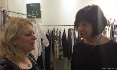 Auf dem Bild ist Nicole Ludwig mit Rebecca Harms zu sehen.