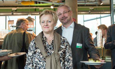 Auf dem Bild sind Olaf W. Reimann und Renate Künast zu sehen.