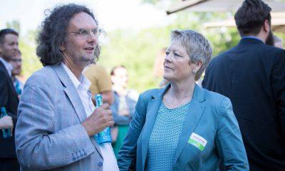 Auf dem Bild sind Oliver Schruoffenegger und Sabine Bangert zu sehen.