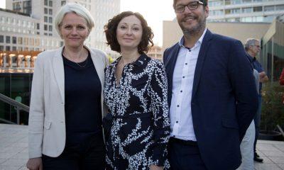 Auf dem Bild sind die drei grünen SenatorInnen Regine Günther, Ramona Pop und Dirk Behrendt zu sehen.