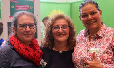 Auf dem Bild sind Daniela Billig, Fatos Topac und Anja Kofbinger zu sehen.