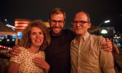 Auf dem Bild sind Sebastian Walter, Georg Kössler und eine Claudia Fechner zu sehen.