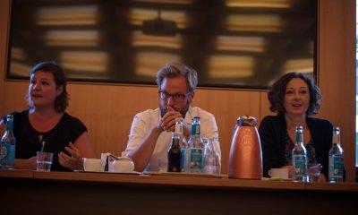 Auf dem Bild sind Antje Kapek, Anjes Tjarks und Ramona Pop zu sehen.