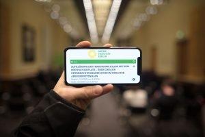 Auf dem Bild ist die Veranstaltungsankündigung der Veranstaltung auf einem Handybildschirm zu sehen.