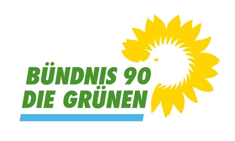 Es ist das Logo der Grünen Fraktion im Berliner Abgeordnetenhaus zu sehen