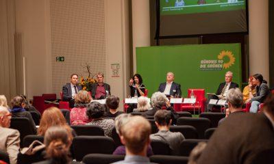 Bettina Jarasch spricht auf dem Fachtag zur Arbeitsmarktintegration von Geflüchteten