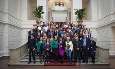 Ein Gruppenfoto der Gäste des Neumitgliederempfangs der Grünen Fraktion im Abgeordnetenhaus