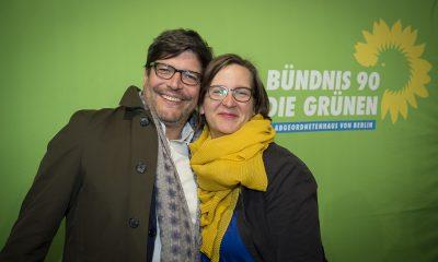 Dirk Behrend und Silke Gebel auf dem Fraktionsfrühjahrsempfang 2019 im Zentrum für Kunst und Urbanistik