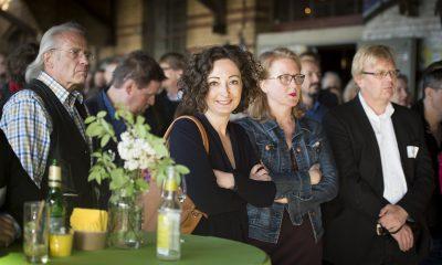 Ramona Pop und Regine Günther auf dem Fraktionsfrühjahrsempfang 2019 im Zentrum für Kunst und Urbanistik