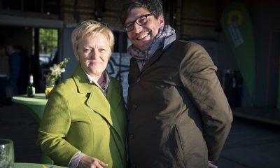 Renate Künast und Dirk Behrend auf dem Fraktionsfrühjahrsempfang 2019 im Zentrum für Kunst und Urbanistik