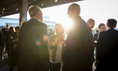 Gäste des Fraktionsfrühjahrsempfangs 2019 unterhalten sich angeregt