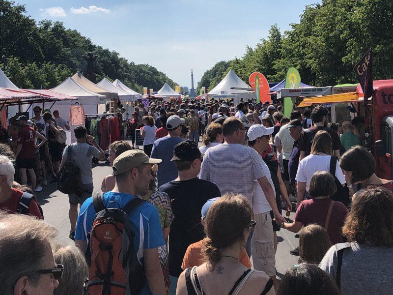 Die Grüne Fraktion war mit einem Stand auf dem Umweltfestival 2019 vertreten
