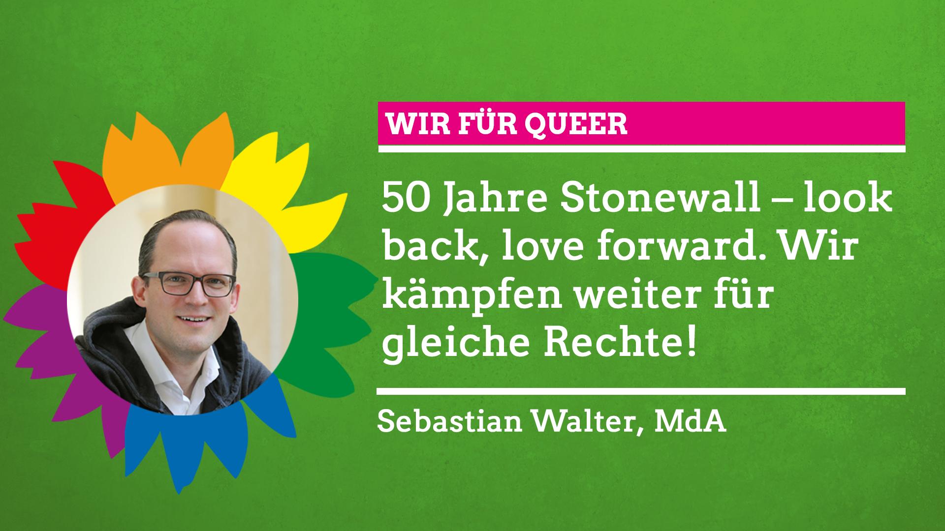 """Sebastian Walter sagt im Rahmen unserer Grünen Regenbogenwochen: """"Wir für Queer!"""""""