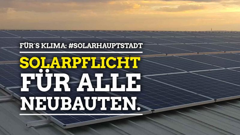 Sharepic Solaranlagen für alle Neubauten