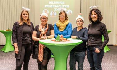 Zweites Bildungsweihnachten mit June Tomiak, Stefanie Remlinger, Silke Gebel, Marianne Burkert-Eulitz, Bettina Jarasch