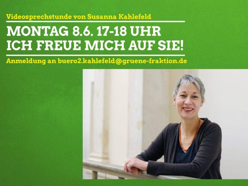 VideoSprechstunde Susanna Kahlefeld