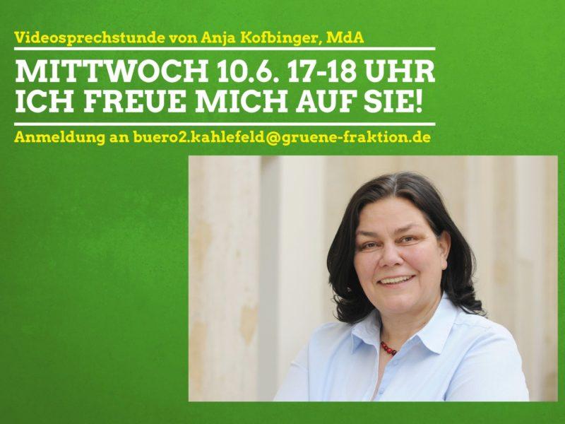 Videosprechstunde Anja Kofbinger