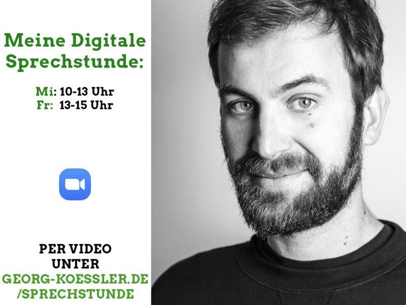 Portrait von Georg Kössler und die Sprechstundenzeiten