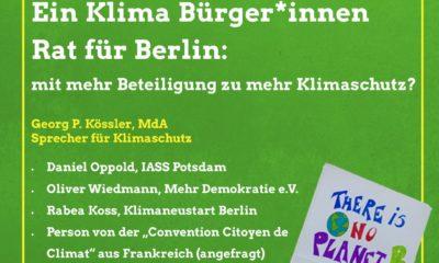Klima-Bürger*innenrat für Berlin - Mit mehr Beteiligung zu mehr Klimaschutz