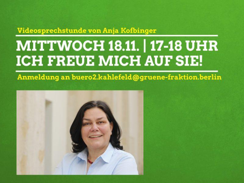 Videosprechstunde Annja Kofbinger 18.11.2020
