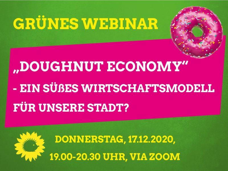 "Ankündigung zum Webinar ""Doughnut Economy"""