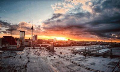 Blick auf Dächer über Berlin
