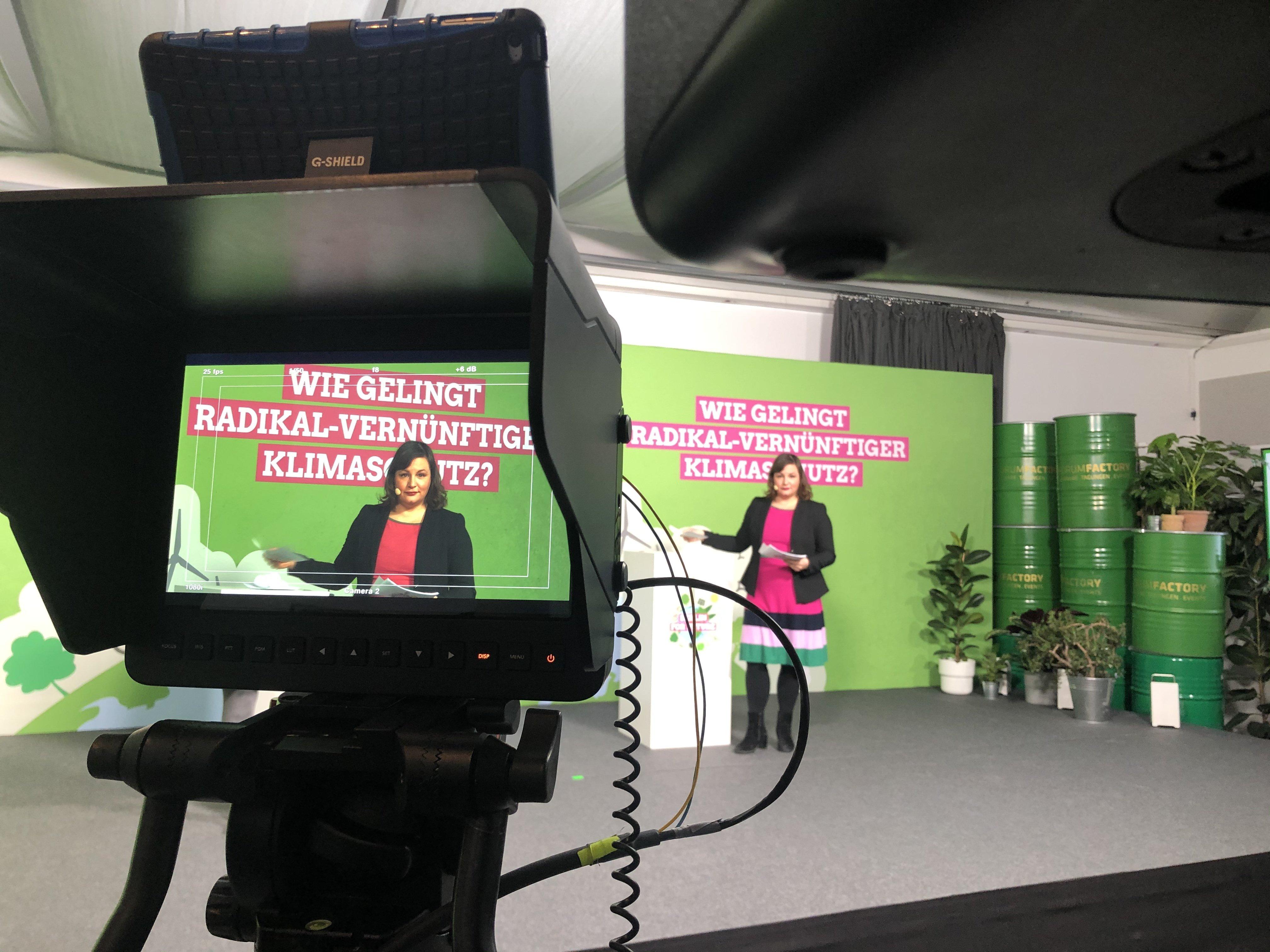 Klimakonferenz Berlin for Future: Silke Gebel, Antje Kapel