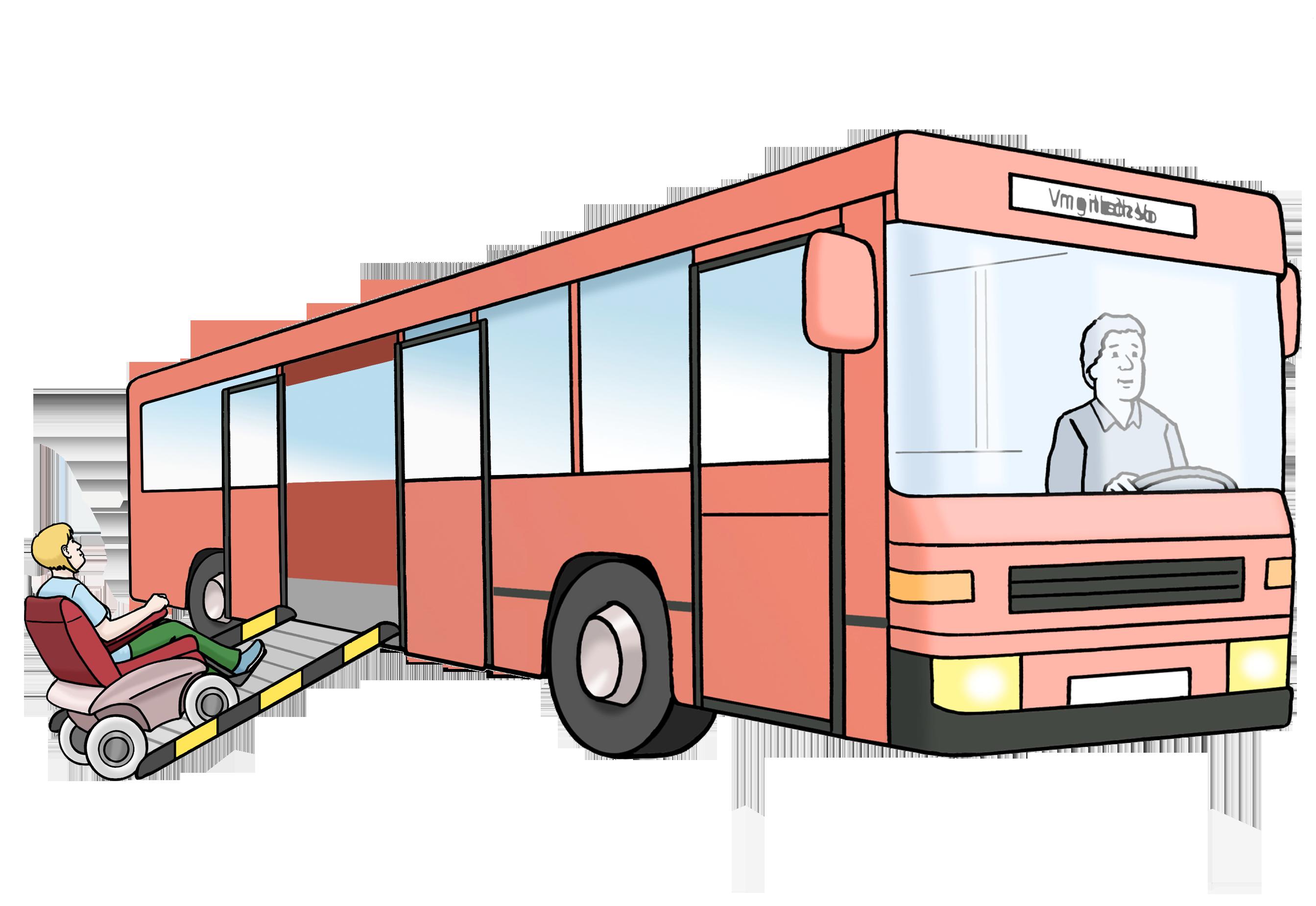 Grafik Bus mit Rampe