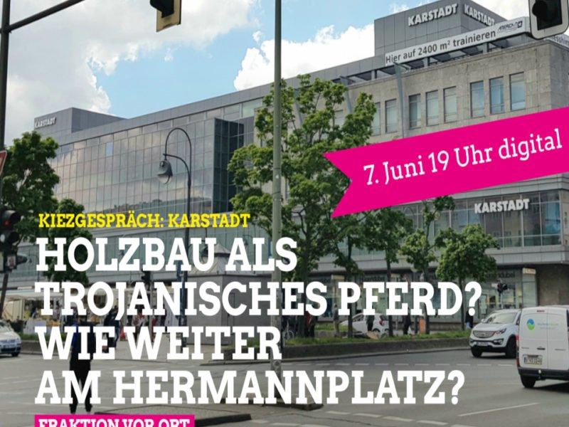 Karstadt wie weiter am Hermannplatz